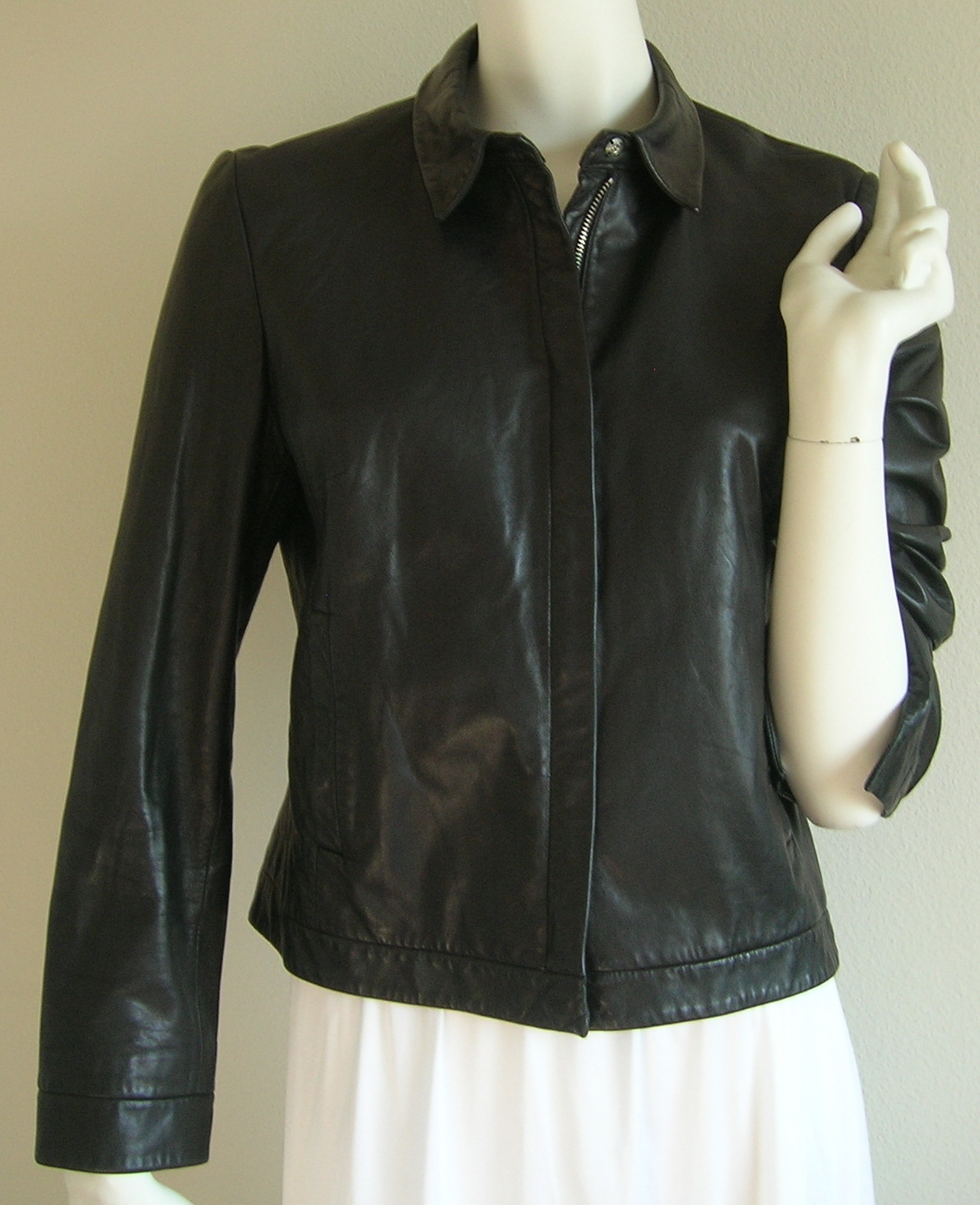 Washable leather jacket