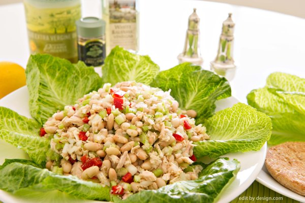 Tuna White Bean Salad, 5:2 Diet, editbydesign.com