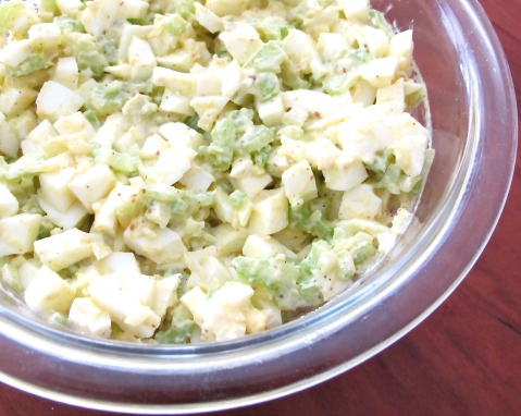 Egg white salad, fast diet, 5:2 diet, editbydesign.com