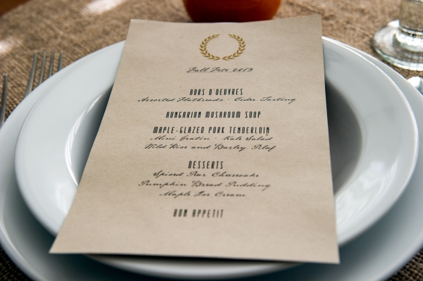 Fall Fete Dinner Party - Menu | Edit by Design