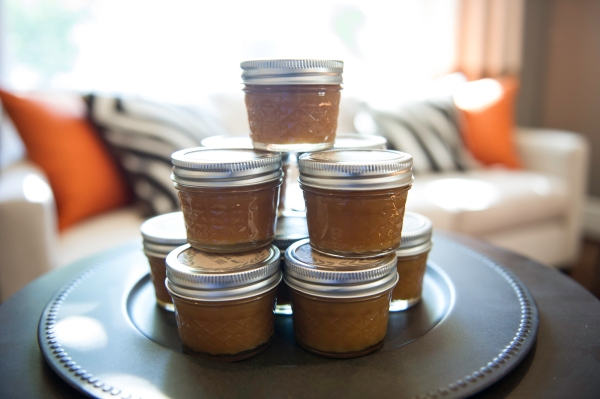 Salted caramel sauce in tiny mason jars | Edit by Design