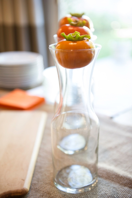 Persimmons make perfect organic bottle stoppers | Edit by Design