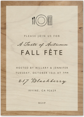 Fall Fete Dinner Party - Invitation | Edit by Design